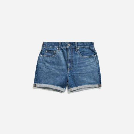 Women's Cheeky Denim Short | Everlane blue