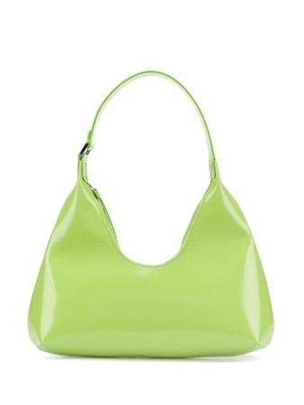 BY FAR Amber Semi-Patent Shoulder Bag - Farfetch