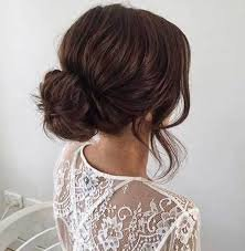 dark hair neat bun