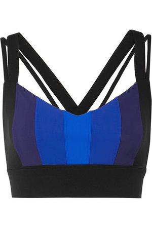 NO KA'OI | Ascent striped stretch sports bra | NET-A-PORTER.COM