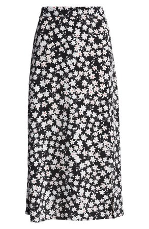 Leith Ditsy Floral Midi Skirt | Nordstrom