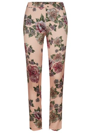 Maps In Bloom Silk Leggings Pants | La Perla