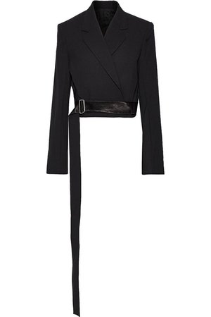 Cropped buckled wool and mohair-blend blazer | HELMUT LANG | Sale up to 70% off | THE OUTNET