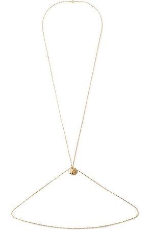 Alighieri | Gold-plated pearl body chain | NET-A-PORTER.COM