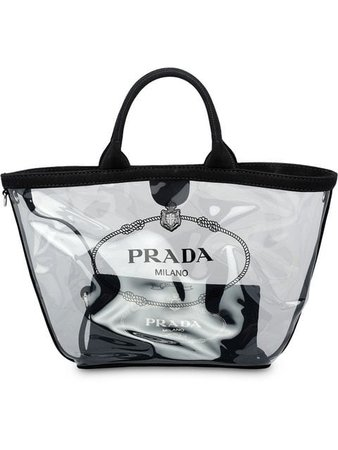 Prada sheer logo tote bag $1,100 - Buy SS19 Online - Fast Global Delivery, Price
