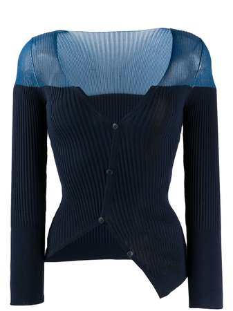 Jacquemus Asymmetric Ribbed Cardigan - Farfetch