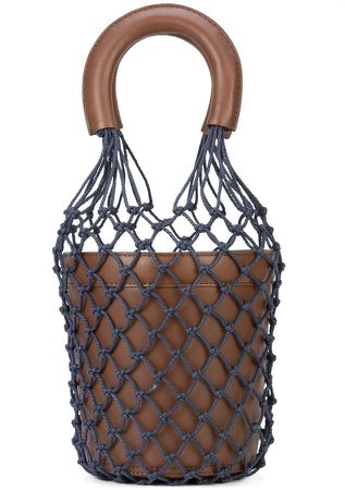 Staud Moreau netted bucket bag