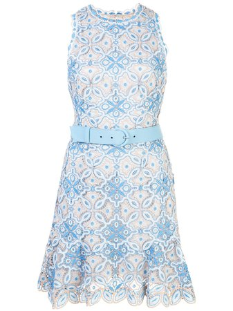 Jonathan Simkhai Charlotte Embroidered Belted Dress Ss20 | Farfetch.com