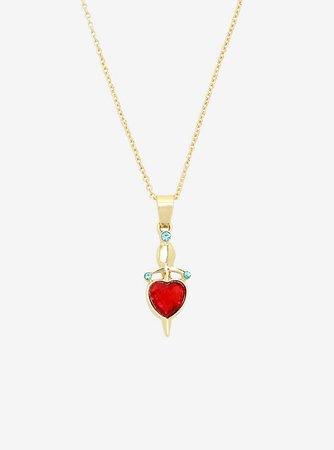 Disney Villains Evil Queen Dagger Heart Necklace