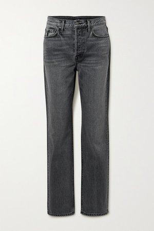 Mica High-rise Straight-leg Jeans - Gray