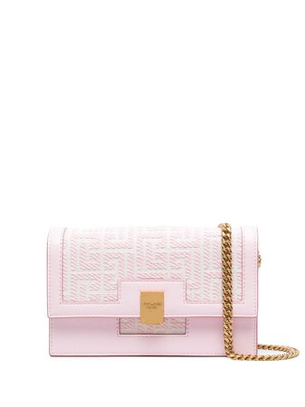 Shop Balmain jacquard monogram mini bag with Express Delivery - FARFETCH
