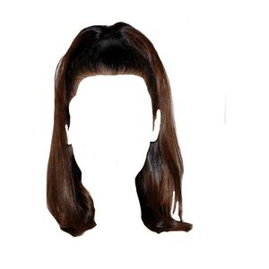 short brown hair png half up