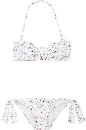 Daphne Ruched Printed Bandeau Bikini