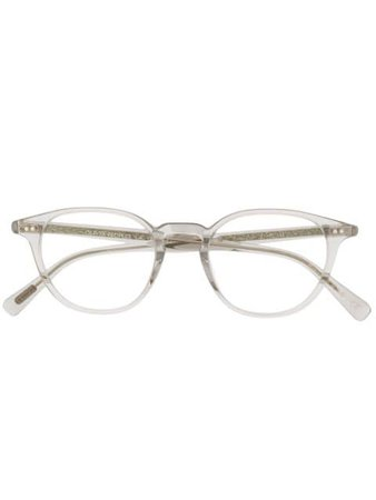 Oliver Peoples Round Frame Glasses - Farfetch