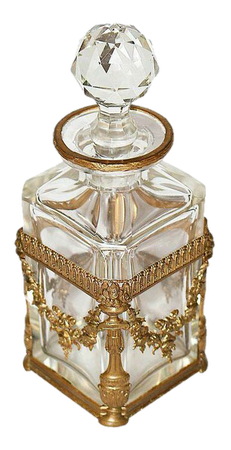 gold and white perfume