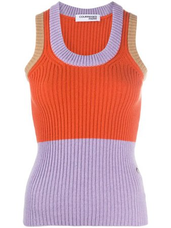 Courrèges Chunky Contrasting Knit Vest - Farfetch