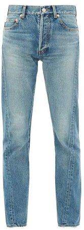 Twisted Seam Straight Leg Jeans - Womens - Denim