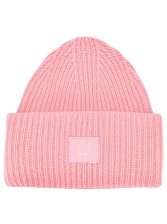 Acne Studios Face Patch Beanie - Farfetch