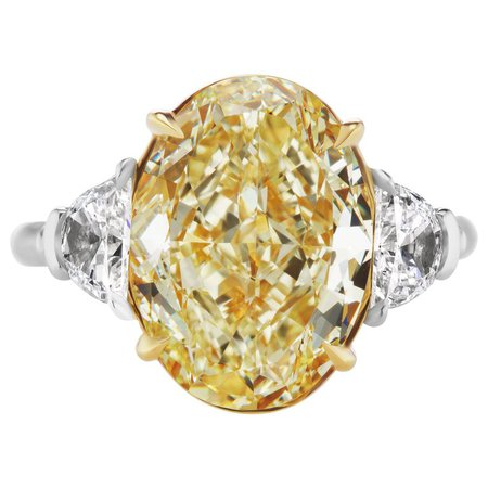 Yellow Oval Diamond Engagement Ring