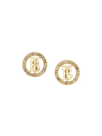 Burberry crystal-detail Monogram Motif Earrings - Farfetch