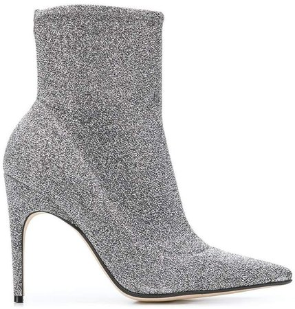 pointed glitter boots