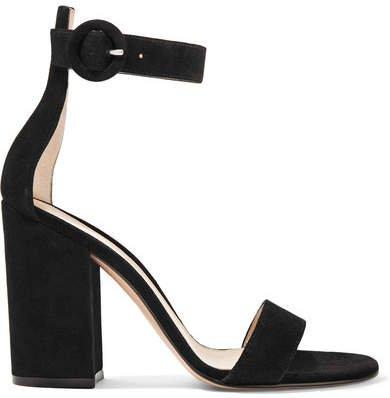 Versilia 100 Suede Sandals - Black