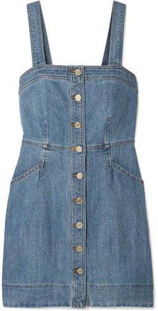 Denim Mini Dress - Blue