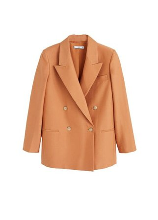 MANGO Double-breasted structured blazer