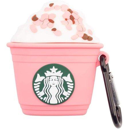 pink starbucks airpods case