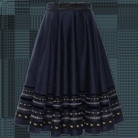 "Swinging ""Dradi"" skirt in dark blue - Lena Hoschek"