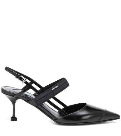 Leather Slingback Pumps - Prada | mytheresa.com