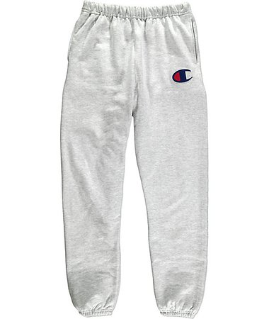 champion sweats gray