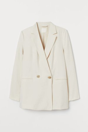 Double-breasted Jacket - Cream - Ladies | H&M US