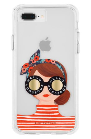 Case-Mate® x Rifle Paper Co. Gorgeous Girl iPhone 6/6s/7/8 Plus Case | Nordstrom
