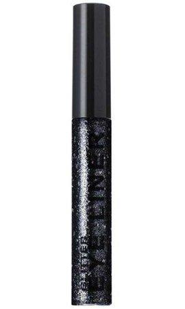 BLACK GLITTER | LIQUID EYELINER STARGAZER // makeup //