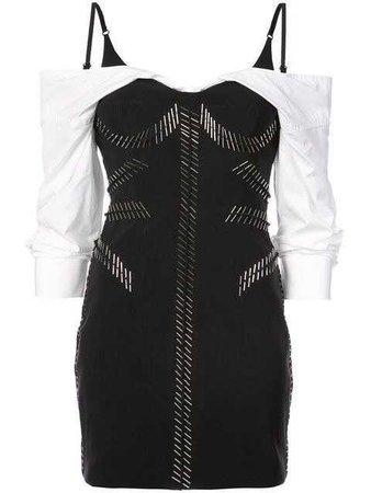 Alexander Wang layered look biker dress