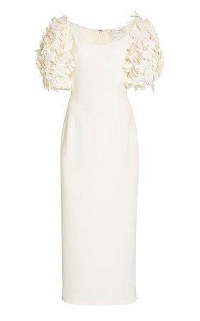 Embellished Crepe De Chine Gown dress
