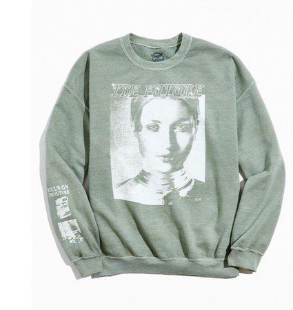 mint green sweatshirt | urban outfitters