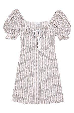 Topshop Textured Stripe Minidress   Nordstrom