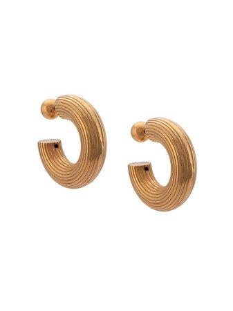 Sophie Buhai Small Column Hoop Earrings | Farfetch.com