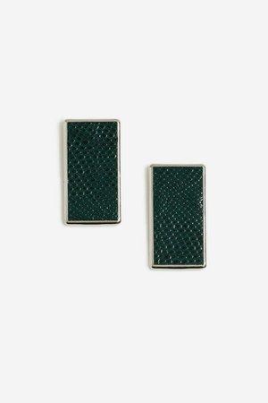 **Faux Leather Stud Earrings | Topshop