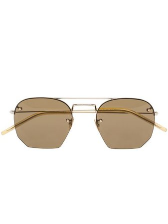 Shop Saint Laurent Eyewear SL422 geometric-frame sunglasses with Express Delivery - FARFETCH