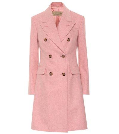 Double-breasted virgin wool coat