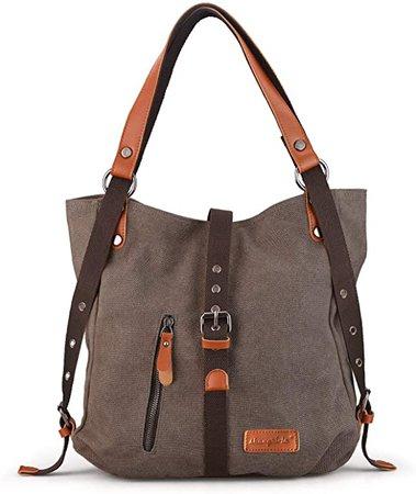 SHANGRI-LA Purse Handbag for Women Canvas Tote Bag Casual Shoulder Bag School Bag Rucksack Convertible Backpack