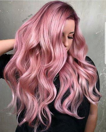 light pinkish purple long hair