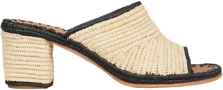Rama Heeled Raffia Sandals