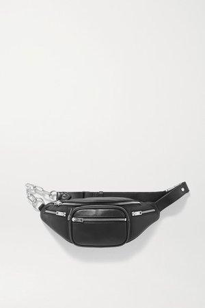 Attica Leather Belt Bag - Black