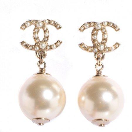 chanel earring pearl