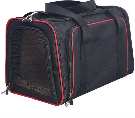 Petsfit Double Sided Expandable Dog & Cat Carrier, Gray, Medium - Chewy.com