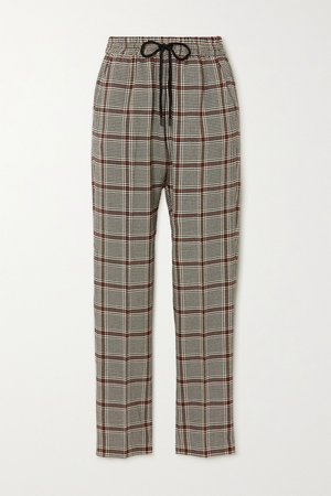 Gray Checked woven tapered pants | MUNTHE | NET-A-PORTER